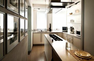 Cucina bianca laminato.