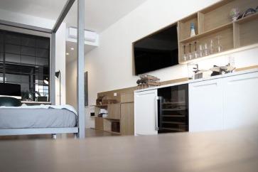 Cucina laccata bianca.