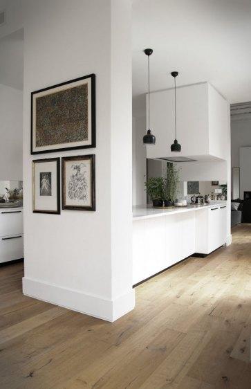 Cucina con top marmo Carrara.